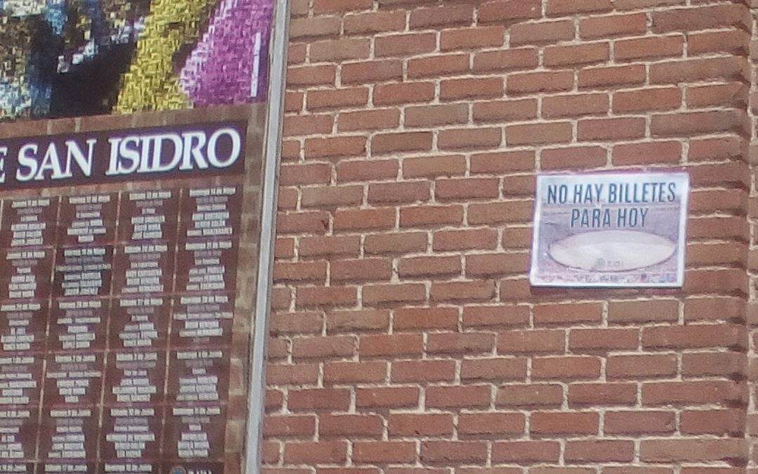 Madrid Bullfight may 24th  sold out